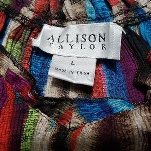 Allison Taylor Tops - Allison Taylor semi sheer blouse, size large